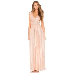 Gold pink evening gown